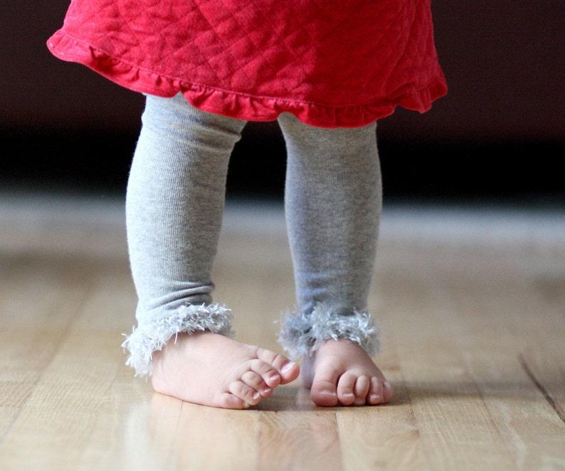 Gray/ Silver Baby Leg Warmers image 0