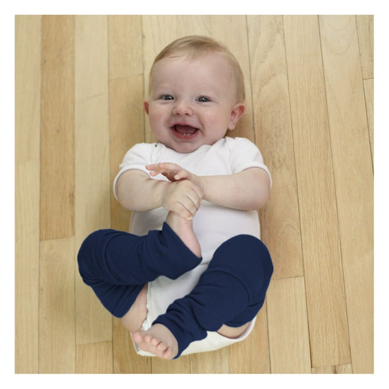 Newborn Navy Blue Baby Leg Warmers image 0