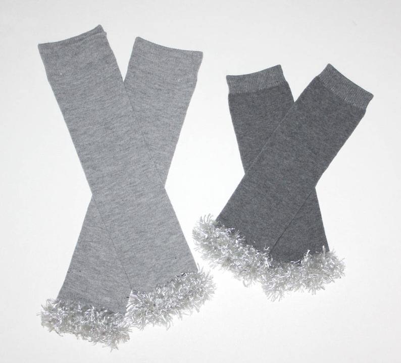 Silver Grey Baby Toddler Leg Warmers /& Headband