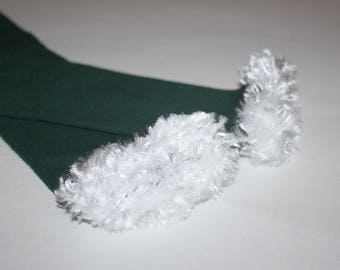 Green and White Philadelphia Eagles Baby Toddler Leg Warmers