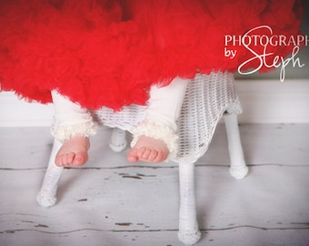 Ivory Cream Off White Baby Leg Warmers
