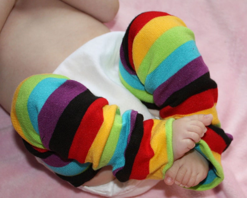 Newborn Rainbow Baby Leg Warmers image 0