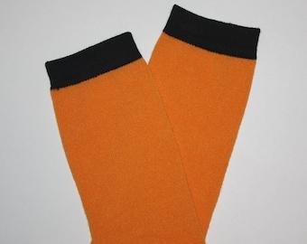 Orange Halloween Baby Toddler Leg Warmers