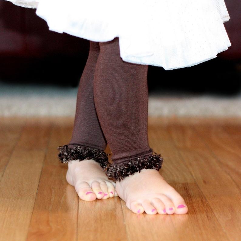 Chocolate Brown Baby Leg Warmers image 0