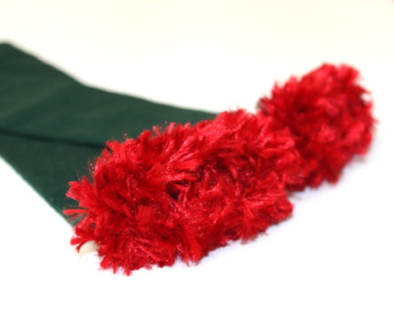 Green and Red Christmas Baby Leg Warmers image 0