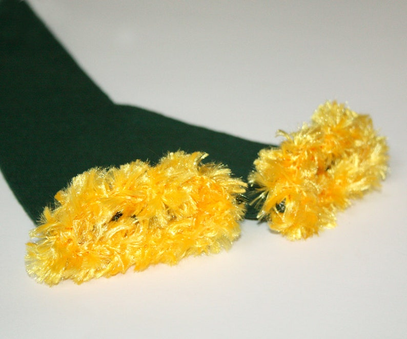 Green and Gold Dallas Stars Green Bay Packers Baby Leg Warmers image 0