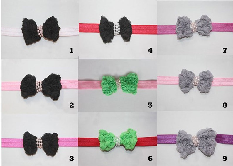 Choose 2 Bow Headbands For Baby or Toddler Sale image 0