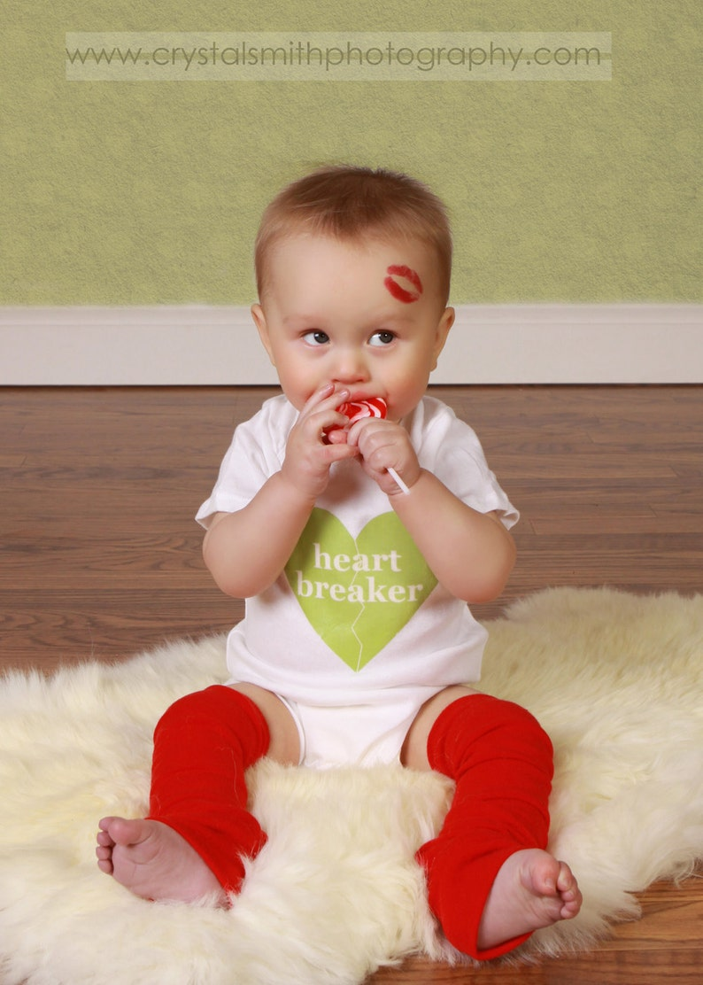 Red Valentine's Day Baby Leg Warmers image 0
