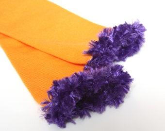 Orange Purple Baby Leg Warmers