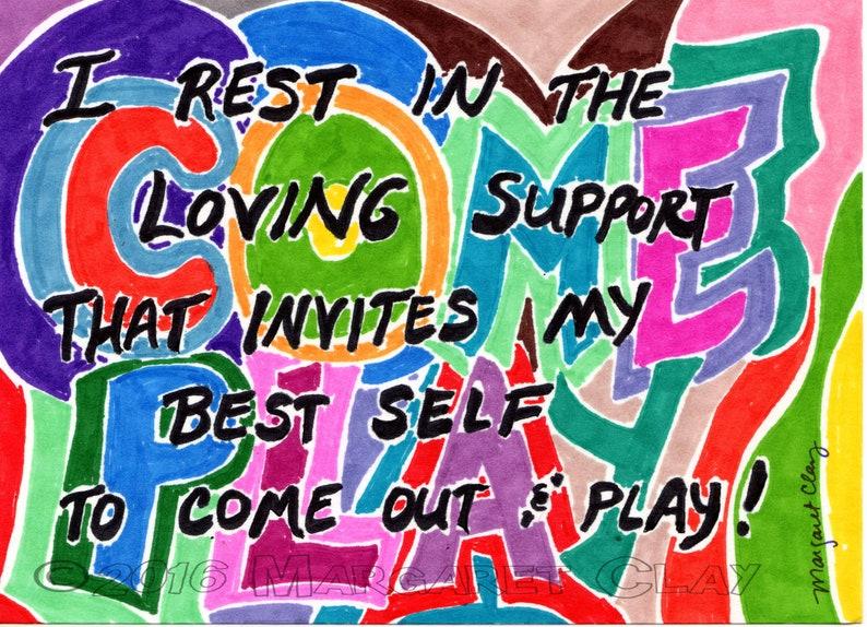Inspirational Gift Encouragement Gift Free Shipping Spiritual Affirmation Original Sharpie Art