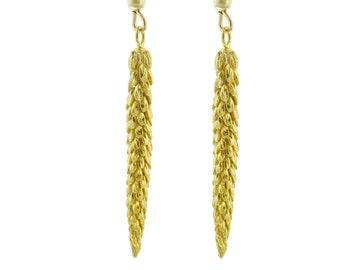 Long Gold Urban Weeds Earrings