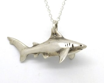 Pet Shark Necklace- Silver Toy Shark Pendant