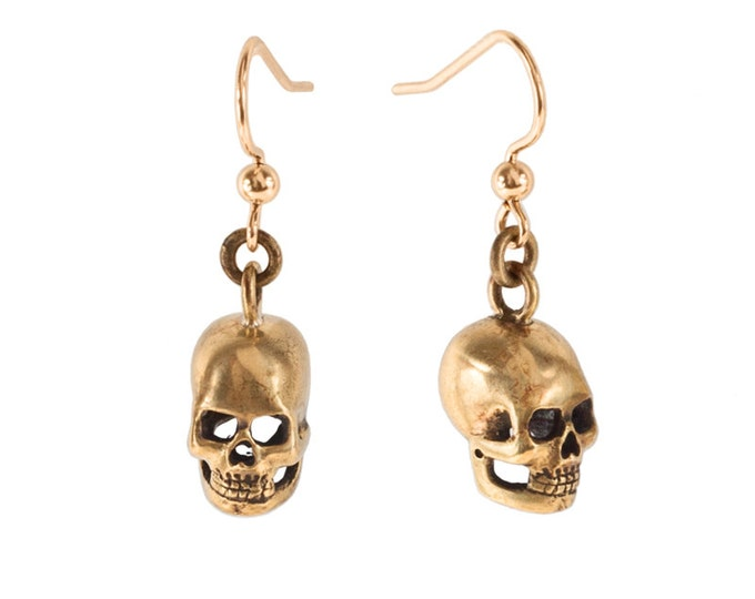 SKULLS // Hand Carved Skull Earrings
