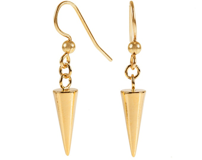 Spike Drop Earrings in Gold