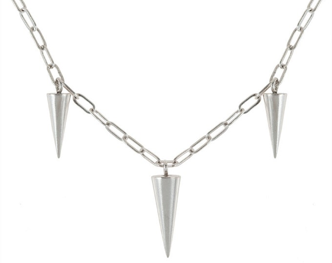 Spikes Necklace in Silver or Brass