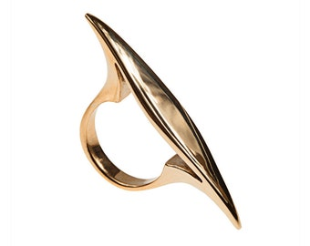 Big Bold Rocker Ring in Brass