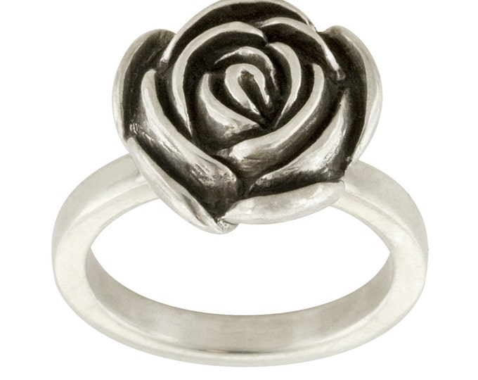 Big Romance Sterling Silver Rose Ring // Made to order in your size