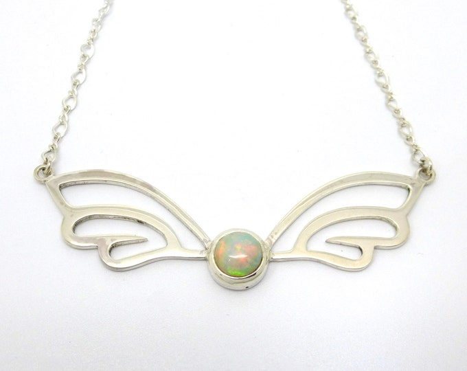 Opal Wings Necklace