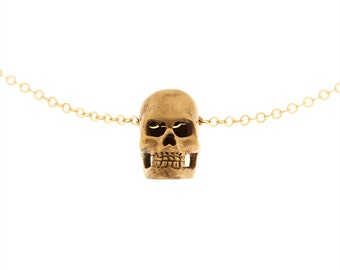 Small Handcarved Skull Necklace