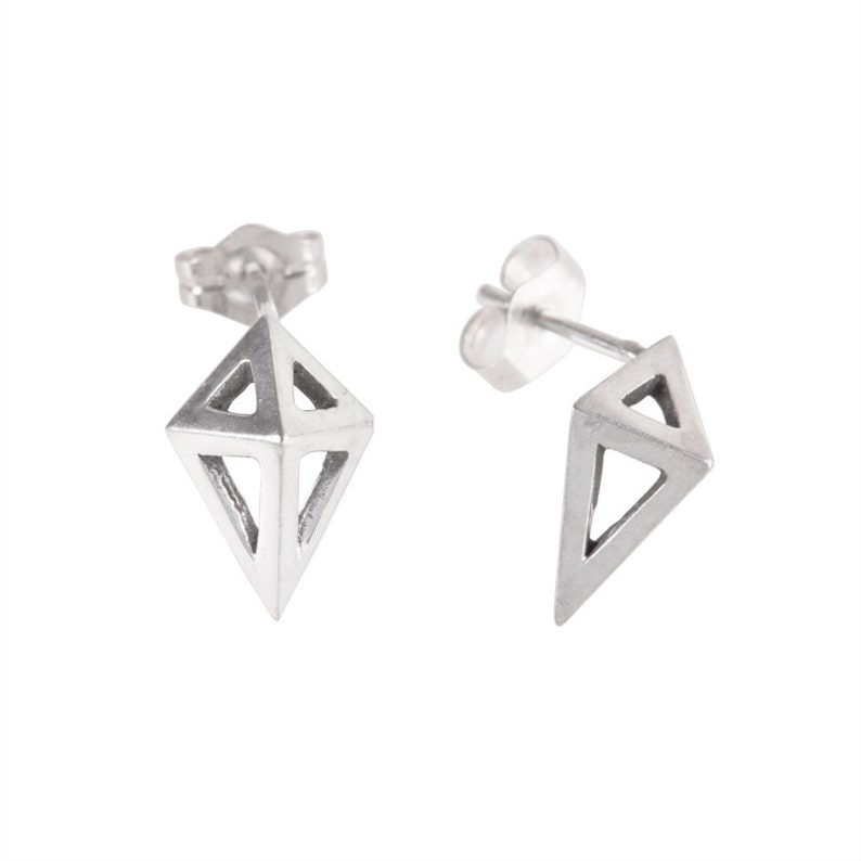 Small Prism Studs in Sterling Silver image 0