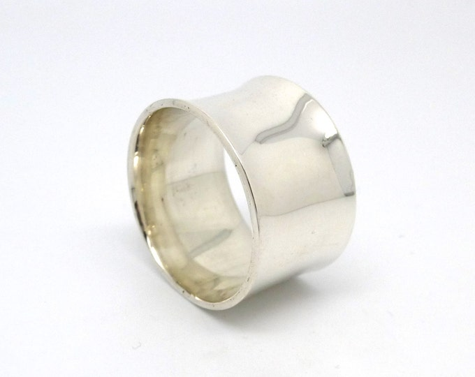 Wide Sterling Silver Ring Band with a Flare made to order in Your Size