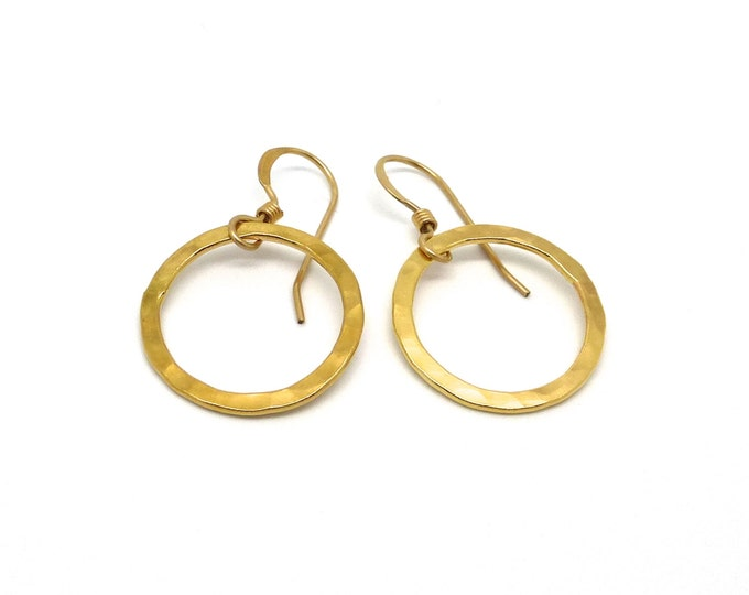 Simple Gold Circle Earrings