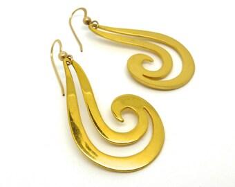 Gold Earrings- Tribal Hooks