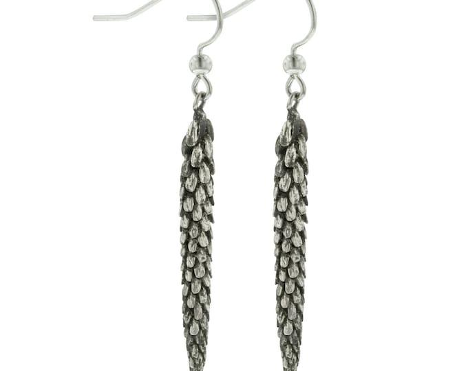 Sterling Silver Dangle Urban Weeds Earrings