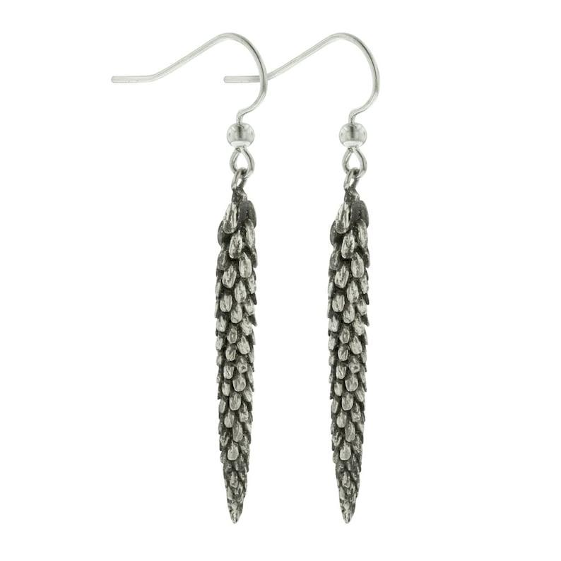 Sterling Silver Dangle Urban Weeds Earrings image 0