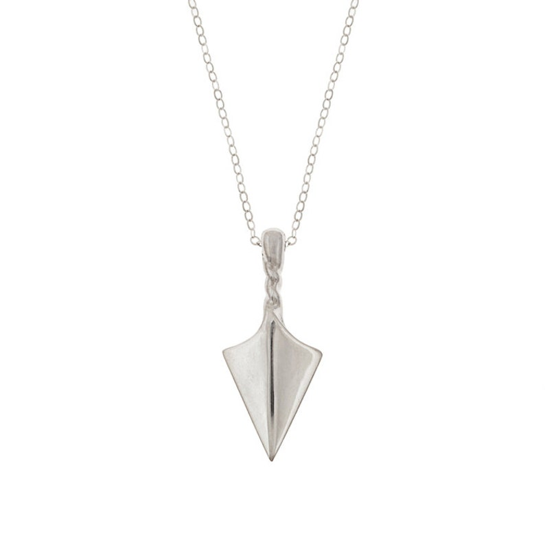 Arrow Point Talisman Necklace in Sterling Silver image 0