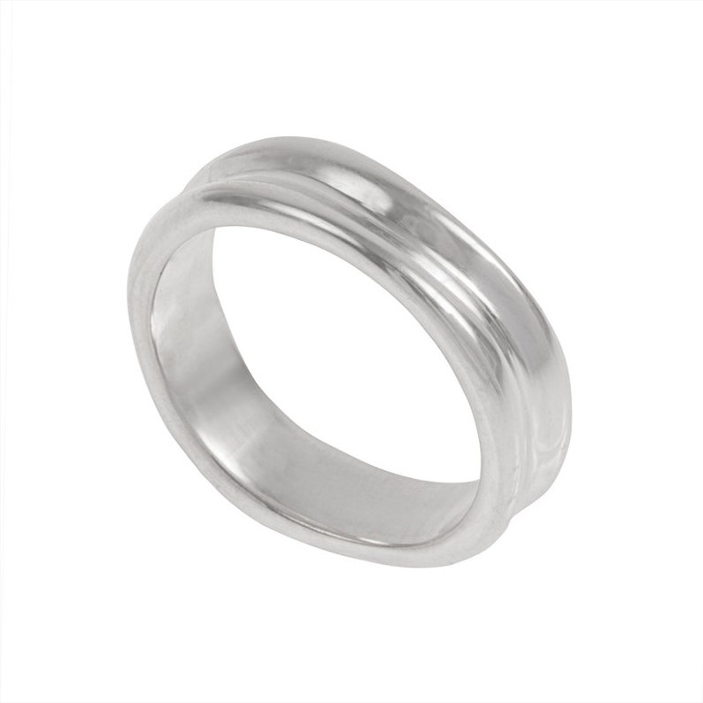 Dunes Mens Wedding Band Made to order in your size material image 0