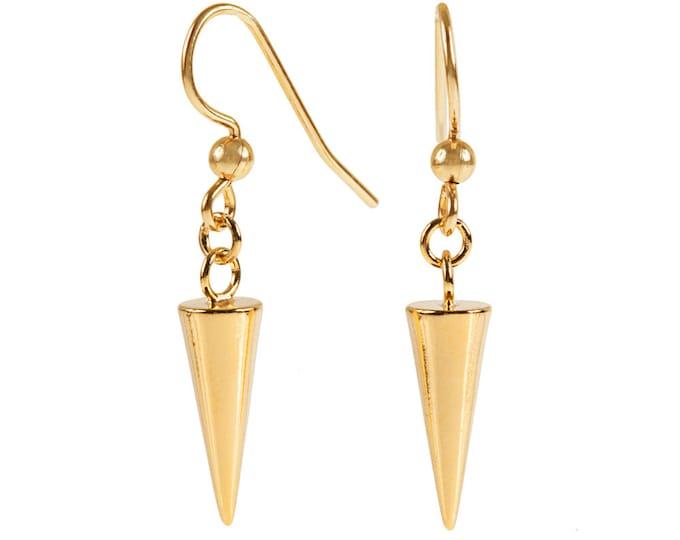 Spike Drop Earrings in Gold