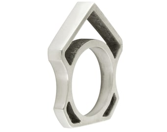 Silver Slice Knuckle Ring size 6.5