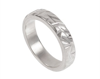 Reeds Wedding Band- Made to order in your size, material and dimensions