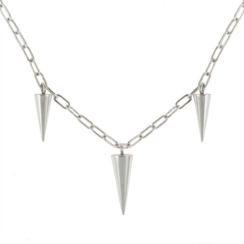 Spikes Necklace in Silver or Brass image 0