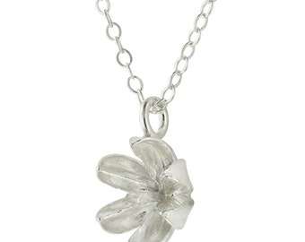 Sterling Silver Seed Pod Necklace // Crepe Myrtle Pendant
