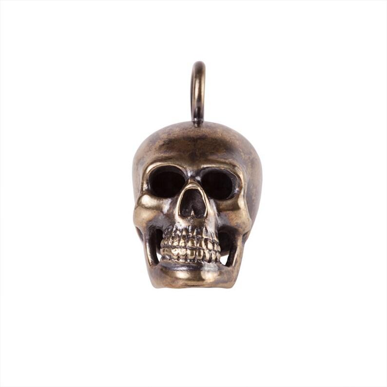 Big Brass Skull Pendant image 0