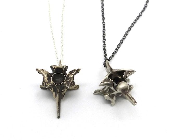Snake Vertebrate Necklace in Sterling Silver