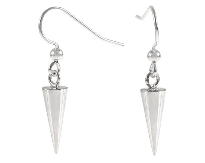 Spike Drop Earrings in Sterling Silver