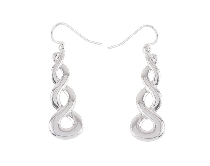 Infinity Earrings in Sterling Silver- Handcarved and cast