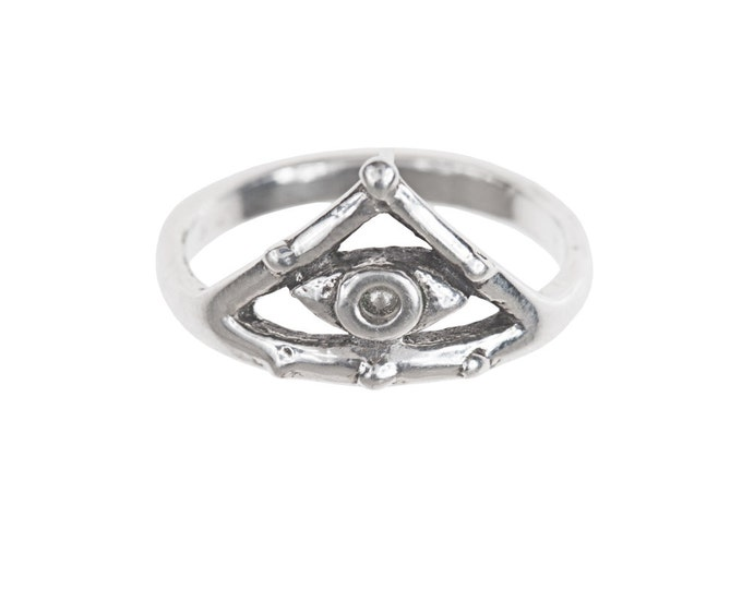 Eye in Pyramid Ring!- Sterling Silver