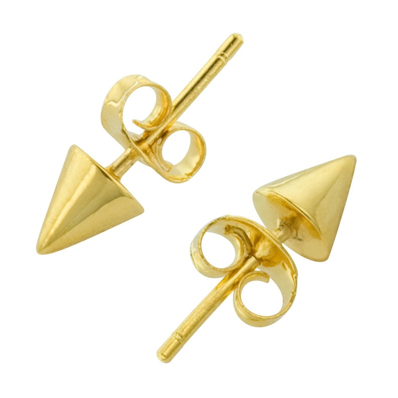Tiny Spike Studs in Gold image 0