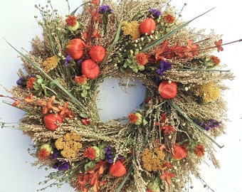 Fall Garden Wreath. Handmade in the USA