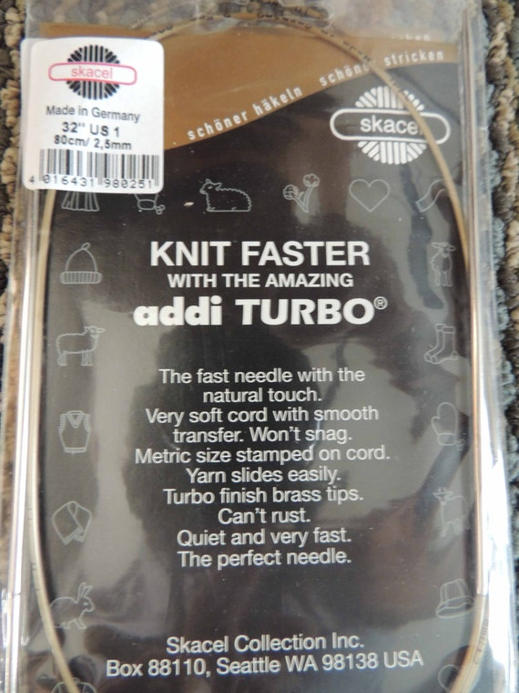 Articles Similaires à Addi Turbo 32 Pouces Us1 Aiguilles à Tricoter