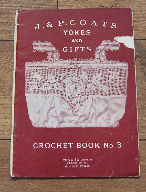 Corticelli #11 c.1919 Rare Vintage Book of Crochet Sweater /& Purse Patterns