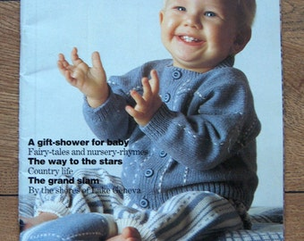 vintage pingouin no. 151  Baby infants knitting patterns