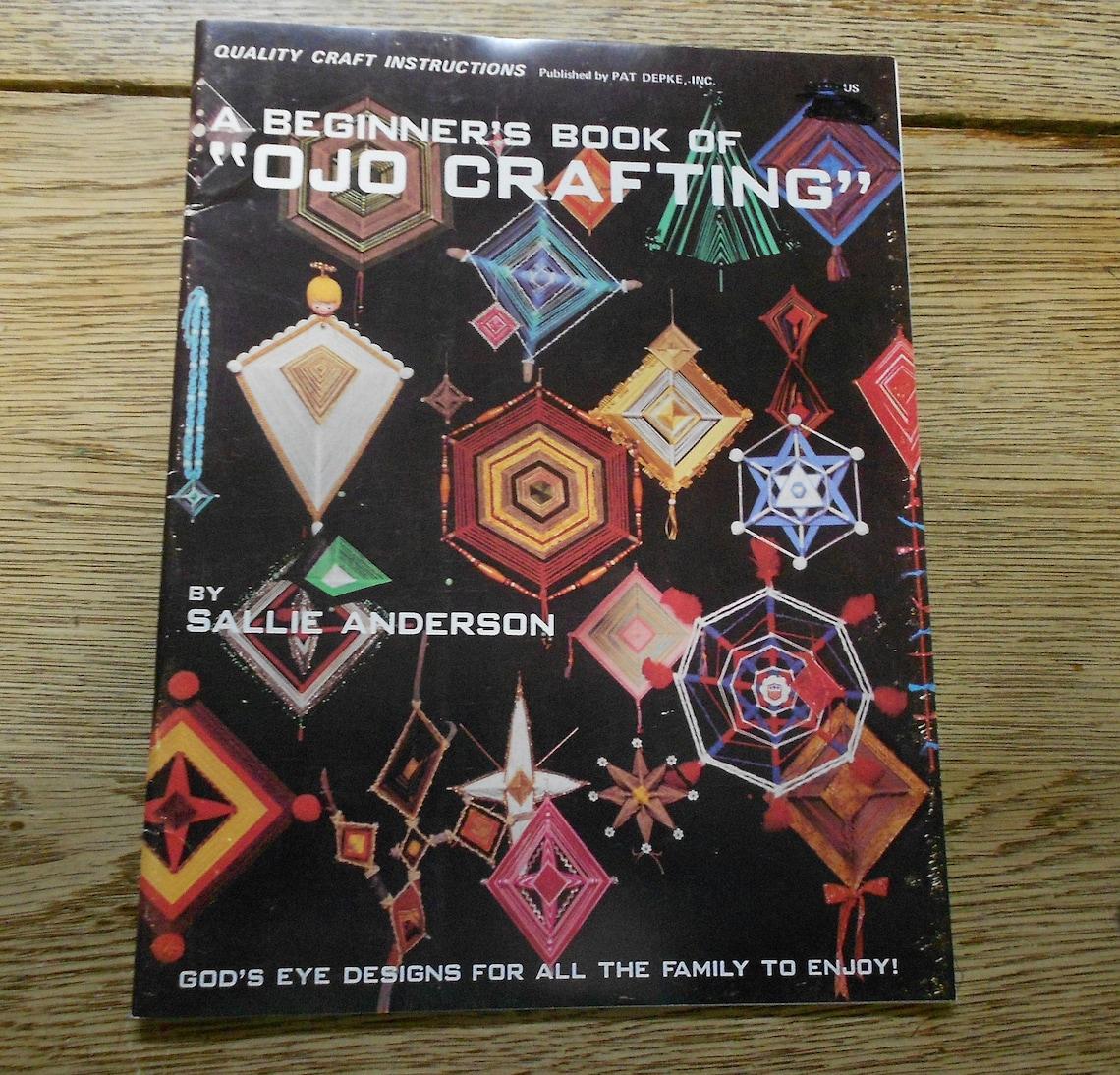 vintage 1978 OJO crafting God's eye designs weaving image 0