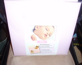 Tapestry by CR Gibson 12 x 12 Baby Girl Scrapbook Complete 20 Designed Pages