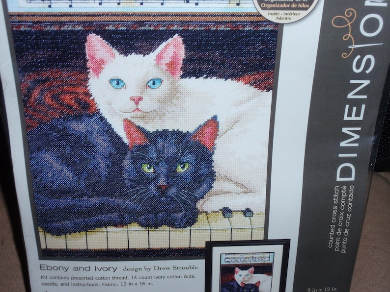 Dimensions Counted Cross Stitch Kit Ebony and Ivory by Drew Strouble or In Harmony by Collin Bogle  NEW