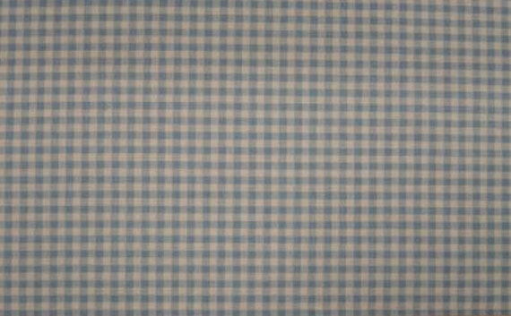 Berceuse Baby Blue Check Upholstery Fabric 56 Wide Sold by the Yard